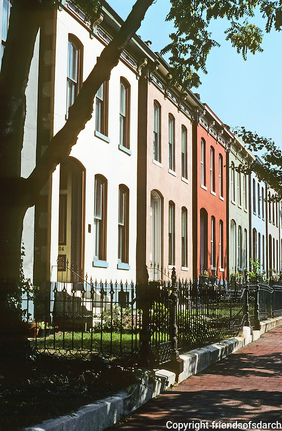 St. Louis:  William Torrey Harris Row, 18th St., South side. Photo '78.