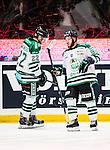 Stockholm 2014-03-27 Ishockey Kvalserien Djurg&aring;rdens IF - R&ouml;gle BK :  <br /> R&ouml;gles Kelsey Tessier och R&ouml;gles Eric Martinsson deppar<br /> (Foto: Kenta J&ouml;nsson) Nyckelord:  DIF Djurg&aring;rden R&ouml;gle RBK Hovet depp besviken besvikelse sorg ledsen deppig nedst&auml;md uppgiven sad disappointment disappointed dejected