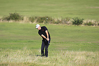 Matt Roberts from Wales on the 10th during Round 2 Singles of the Men's Home Internationals 2018 at Conwy Golf Club, Conwy, Wales on Thursday 13th September 2018.<br /> Picture: Thos Caffrey / Golffile<br /> <br /> All photo usage must carry mandatory copyright credit (&copy; Golffile | Thos Caffrey)