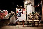PHNOM PHEN, CAMBODIA, APRIL 2013:<br />Coppie dell'alta borghesia Cambogiana celebrano il loro matrimonio nelle sale di Diamond Island<br />L'alta borghesia khmer festeggia al Diamond Island Convention &amp; Exhibition Center, nuovo complesso creato su Koh Pich (Diamond Island), isola fluviale nel centro di Phnom Penh che nel sogno degli azionisti della Canadia Bank (tra cui, si mormora, la famiglia di Hun Sen, primo ministro in carica dal 1985) dovrebbe divenire una micro Singapore. Le dieci sale di Diamond Island possono accogliere un totale di 2000 persone, ma le tariffe sono molto pi&ugrave; alte: il minimo &egrave; di 250 dollari per un tavolo da dieci (cena compresa), la media di circa 400. &copy; Giulio Di Sturco per &quot;D&quot; della Repubblica