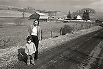 Kirsten Wild and Elenor Miller on farm in Huntingdon County, PA 1973