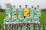 Listowel Celtic : Front : Ian Murphy, Brian Murphy, Martin Loughnane, Adam Toomey & Kevin Dillon. Back :Kevin McCarthy, Michael Woods, Sheamus Keane, Brendan Griffin, Partick Burns & Eddie Joe Walsh.