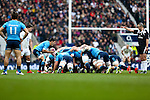 The two sides pack down - RBS 6 Nations - England vs Italy - Twickenham Stadium - London - 14/02/2015 - Pic Charlie Forgham-Bailey/Sportimage