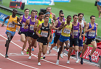 The EMSLEY CARR MILE during the Sainsbury's Anniversary Games, Athletics event at the Olympic Park, London, England on 25 July 2015. Photo by Andy Rowland.