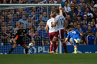 Chelsea's Alvaro Morata scores his sides first goal  <br /> <br /> Photographer Craig Mercer/CameraSport<br /> <br /> The Premier League - Chelsea v Burnley - Saturday August 12th 2017 - Stamford Bridge - London<br /> <br /> World Copyright &copy; 2017 CameraSport. All rights reserved. 43 Linden Ave. Countesthorpe. Leicester. England. LE8 5PG - Tel: +44 (0) 116 277 4147 - admin@camerasport.com - www.camerasport.com