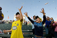 Columbus Crew fans with Goodyear blimp overhead during MLS Cup 2008. Columbus Crew defeated the New York Red Bulls, 3-1, Sunday, November 23, 2008. Photo by John Todd/isiphotos.com
