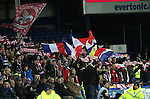 Lille fans display their colours - UEFA Europa League - Everton vs  Lille - Goodison Park Stadium - Liverpool - England - 6th November 2014 - Pic Simon Bellis/Sportimage