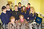 Senior citizens who are been taught how to use computers and how to log onto the internet by students from Pobailscoil Inbhear Sce?ine Kenmare on Wednesday front Breda Nash, Elaine Gallivan. Back row: Lisa O'Shea, Hugh Gudgeon, Joan Randlesm Tomas Letanneur, Paige Birch, Kieran O'Shea and Kelsea O'Brien