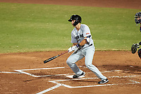 Peoria Javelinas Hudson Potts (35), of the San Diego Padres organization, at bat during an Arizona Fall League game against the Mesa Solar Sox on September 21, 2019 at Sloan Park in Mesa, Arizona. Mesa defeated Peoria 4-1. (Zachary Lucy/Four Seam Images)