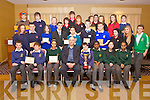 WINNERS: Winners from the County Final of the Kerry County Enterprise Boards Annual Student Enterprise Awards held on Tuesday in the Carlton Hotel, Tralee.