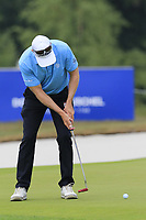 Bradley Dredge (WAL) putts on the 12th green during Saturday's Round 3 of the Porsche European Open 2018 held at Green Eagle Golf Courses, Hamburg Germany. 28th July 2018.<br /> Picture: Eoin Clarke | Golffile<br /> <br /> <br /> All photos usage must carry mandatory copyright credit (&copy; Golffile | Eoin Clarke)