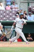 B.J. Boyd (23) of the Stockton Ports bats during a game against the Inland Empire 66ers at San Manuel Stadium on June 28, 2015 in San Bernardino, California. Stockton defeated Inland Empire, 4-1. (Larry Goren/Four Seam Images)