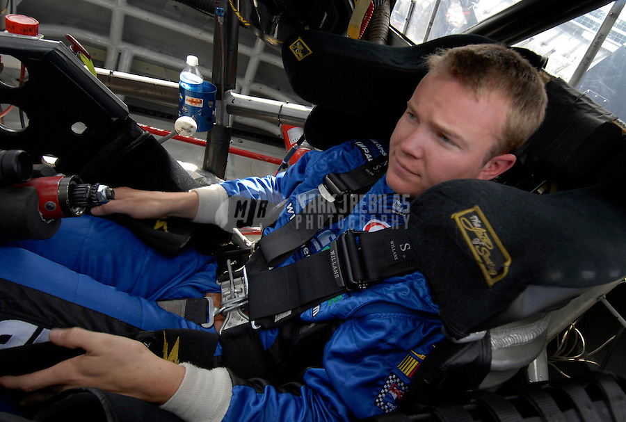 Nov 3, 2006; Fort Worth, TX, USA; Nascar Craftsman Truck Series driver Chase Miller (4) during the Silverado 350 at Texas Motor Speedway. Mandatory Credit: Mark J. Rebilas