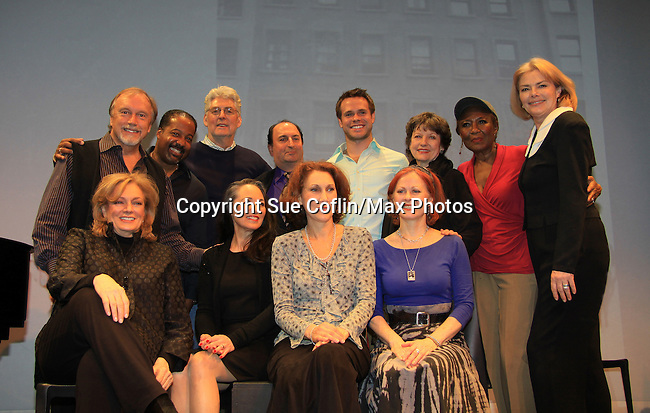 """""""Good Girls Only"""" - the Rehearsal Club Musical - on March 13, 2013 at the Professional Children's School, New York City, New York. Cast: George Lee Andrews, Mary Lou Barber, Randy Graff, Jamey Grisham, Ernestine Jackson, Victoria Mallory (6 years on Y&R) and Jane Summerhayes. (Photo by Sue Coflin/Max Photos)  917-647-8403"""