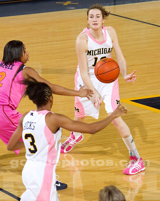 University of Michigan women's basketball 69-59 victory over Illinois at Crisler Arena in Ann Arbor, MI, on February 6, 2011.