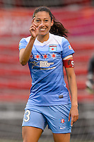 Bridgeview, IL, USA - Sunday, May 1, 2016: Chicago Red Stars forward Christen Press (23) during a regular season National Women's Soccer League match between the Chicago Red Stars and the Orlando Pride at Toyota Park. Chicago won 1-0.