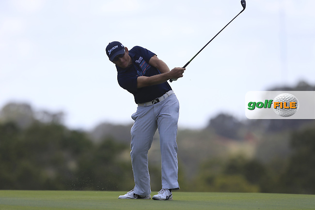 Matthew Ballard (AUS) on the 18th during Round 1 of the ISPS HANDA Perth International at the Lake Karrinyup Country Club on Thursday 23rd October 2014.<br /> Picture:  Thos Caffrey / www.golffile.ie
