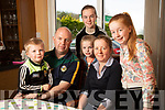Róisín Collins (on Right) with her parents Tim and Anne and brother Shane and sisters Leanne and Ciara at home in Firies.