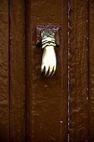 A door knocker in the Basque Country, EUSKADI, in the North West corner of Spain. Photo: joliphotos.com