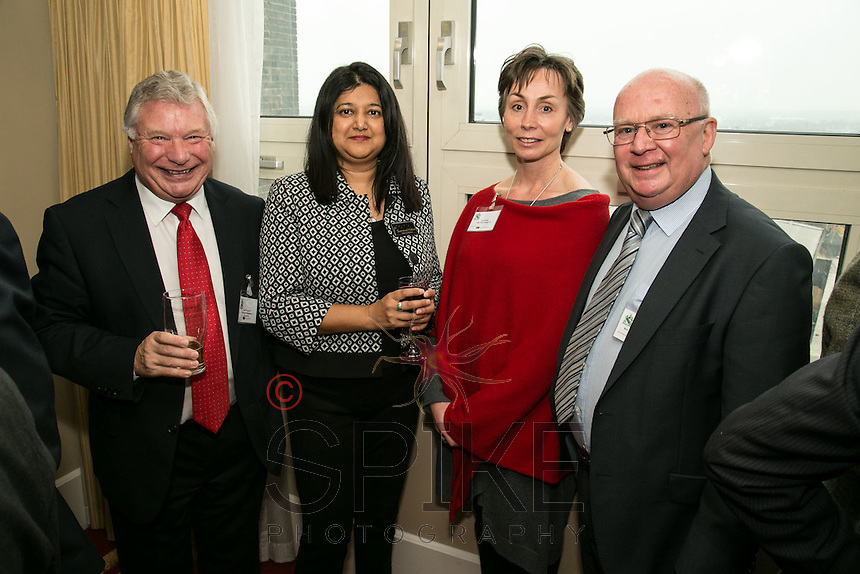 Len Simmonds of Nottingham Workplace Chaplaincy,  Shamshad Walker, Anne Betts of PMB Office Design and Ron Glen