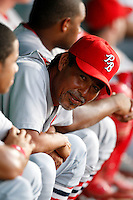 July 13, 2009:  Pitching coach Dennis Martinez of the Palm Beach Cardinals during a game at Hammond Stadium in Ft. Myers, FL.  Palm Beach is the Florida State League High-A affiliate of the St. Louis Cardinals.  Photo By Mike Janes/Four Seam Images