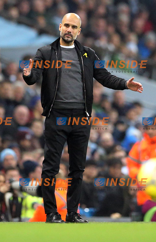 Manchester City v Bournemouth Premier League Manchester City manager Josep Guardiola during the Premier League match at the Etihad Stadium, Manchester PUBLICATIONxNOTxINxUK Copyright: xSimonxMoorex FIL-11128-0033  <br /> Premier League 2017/2018 <br /> Foto Imago / Insidefoto