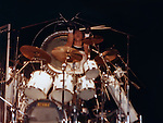 Clive Burr of Iron Maiden live in NY in 1980's. Iron Maiden
