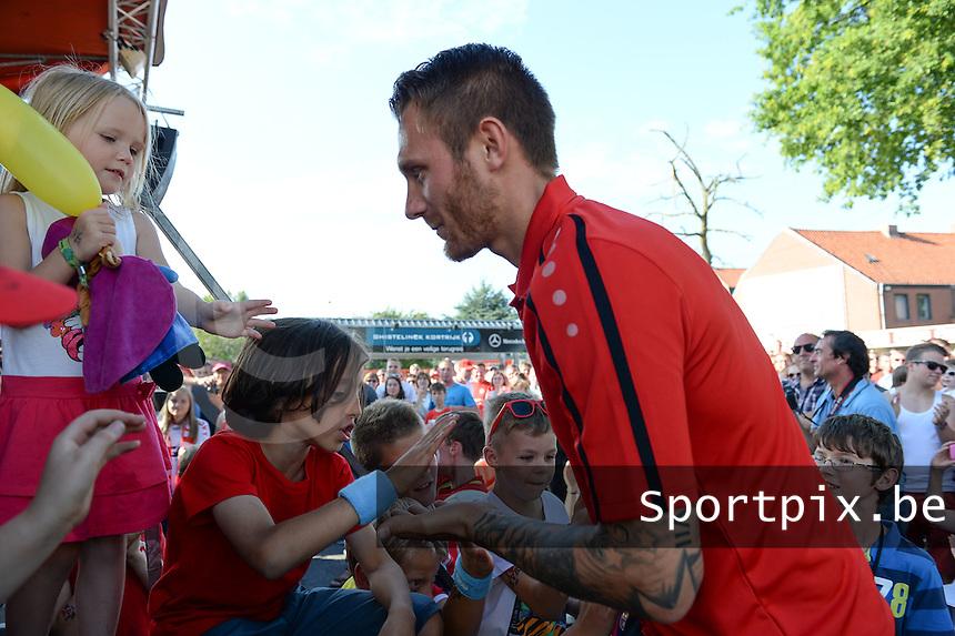 KV Kortrijk Fandag 2015 : ploegvoorstelling met Teddy Chevalier <br /> foto VDB / BART VANDENBROUCKE