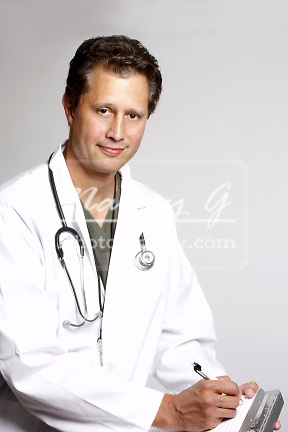A portrait of a doctor