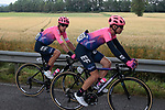 Sean Bennett (USA) and Rigoberto Uran (COL) EF Education First during Stage 2 of the Route d'Occitanie 2019, running 187.7km from Labruguière to Martres-Tolosane, France. 21st June 2019<br /> Picture: Colin Flockton | Cyclefile<br /> All photos usage must carry mandatory copyright credit (© Cyclefile | Colin Flockton)