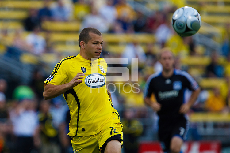 27 MAY 2009: #10 Alejandro Moreno, Columbus Crew forward in action during the San Jose Earthquakes at Columbus Crew MLS game in Columbus, Ohio on May 27, 2009. The Columbus Crew defeated San Jose 2-1