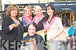 HALF: Half way dare as Norma Keane of Aines Cafe The Square Tralee get her head shaving by Ann Fenix of Claude Monte Barbar Shop, The Square Tralee on Saturday for the Kerry Hospice Foundation.L-r: Ann Fenix, Nicole Carey, Catherine Hannafin and Aine Murphy.... ....