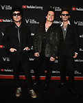 LOS ANGELES- DECEMBER 12: (L-R) Billie Joe Armstrong, Tre Cool, and Mike Dirnt of Green Day attend the Game Awards 2019 at the Microsoft Theater on December 12, 2019 in Los Angeles, California. (Photo by Scott Kirkland/PictureGroup)