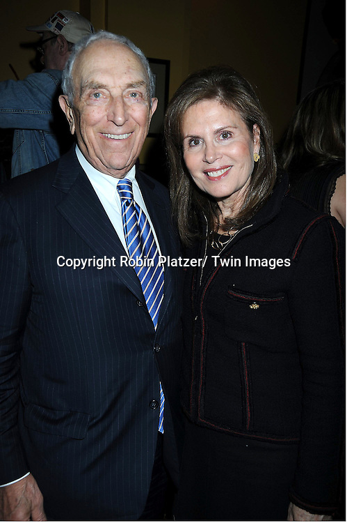 """Senator Frank Lautenberg and wife Bonnie attending the Opening night party for .""""Cactus Flower"""" on March 10, 2011 at B Smith's Restaurant. The show stars Lois Robbins, Maxwell Caulfield and Jenni Barber."""