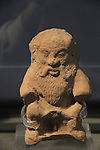 The God Bes from Tel Dan, pottery, 3rd-2nd centuries BC, at the Skirball Museum of Biblical Archaeology in Jerusalem