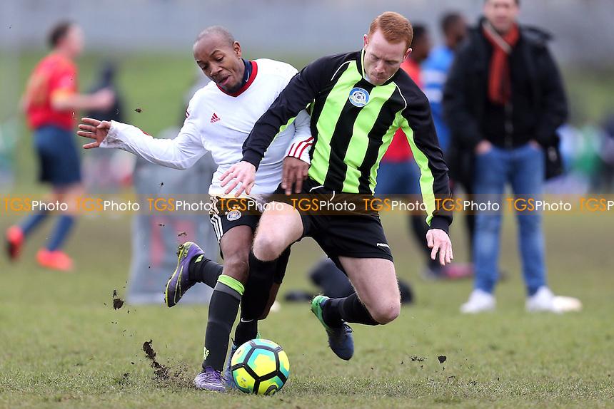 FC Stepney (White) vs Eagle (Green and black) - Hackney & Leyton Sunday League Football at Hackney Marshes on 29th January 2017