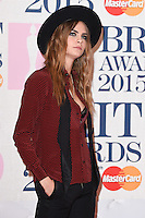 Cara Delevingne arrives for the BRIT Awards 2015 at the O2 Arena, London. 25/02/2015 Picture by: Steve Vas / Featureflash