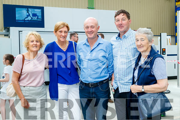 Eileen Buckley, Julie Talbot Donal Buckley Merry and Maura Talbot, pictured a tour of Dairymaster on Sunday last.
