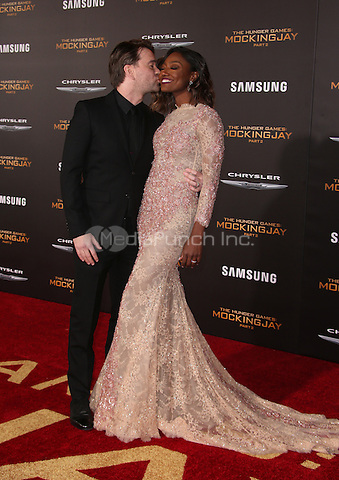 "Los Angeles, CA - November 16 Patina Miller, David Mars Attending Premiere Of Lionsgate's ""The Hunger Games: Mockingjay - Part 2"" At Microsoft Theater On November 16, 2015. Photo Credit: Faye Sadou / MediaPunch"