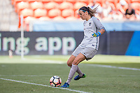Houston, TX - Saturday May 13, Houston Dash goalkeeper Lydia Williams (18) during a regular season National Women's Soccer League (NWSL) match between the Houston Dash and Sky Blue FC at BBVA Compass Stadium. Sky Blue won the game 3-1.