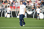 07 December 2007: Notre Dame assistant coach Jen Buczkowski. The Florida State Seminoles defeated the University of Notre Dame Fighting Irish played 3-2 at the Aggie Soccer Stadium in College Station, Texas in a NCAA Division I Womens College Cup semifinal game.