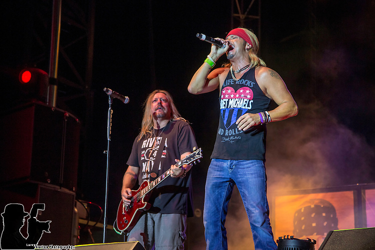 Bret Michaels performs at the Moapa Paiute Travel Plaza on the 4th of July celebration