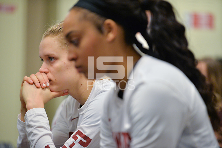 Dallas, TX - Friday March 31, 2017: Players prior to the NCAA National Semifinal Game between the women's basketball teams of Stanford and South Carolina at the American Airlines Center.