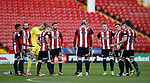 Team huddle during the Carabao Cup First Round match at Bramall Lane Stadium, Sheffield. Picture date: August 9th 2017. Pic credit should read: Simon Bellis/Sportimage