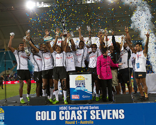 19.10.2012. Gold Coast, Australia.  Fiji Sevens - Gold Coast Sevens 2012 - Skilled Park Stadium  HSBC Sevens World Series