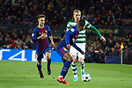 UEFA Champions League 2017/2018 - Matchday 6.<br /> FC Barcelona vs Sporting Clube de Portugal: 2-0.<br /> Denis Suarez, Jeremy Mathieu &amp; Nelson Semedo.