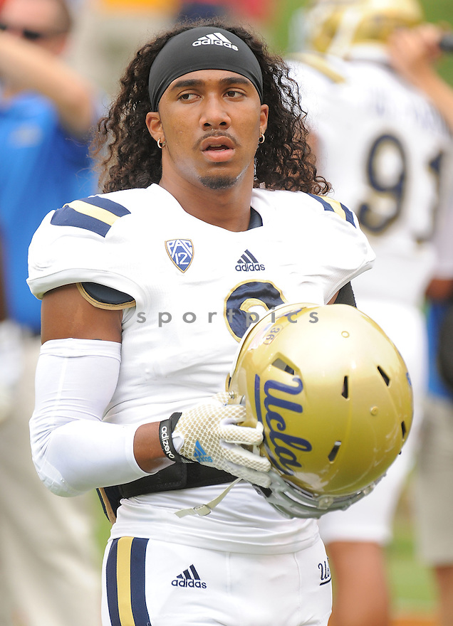 UCLA Bruins Randall Goforth (3) during a game against the Virginia Cavaliers on August 30, 2014 at Scott Stadium in Charlottesville, VA. UCLA beat Virginia 28-20.