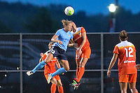 Piscataway, NJ - Saturday July 09, 2016: Kristin Grubka, Cami Privett during a regular season National Women's Soccer League (NWSL) match between Sky Blue FC and the Houston Dash at Yurcak Field.