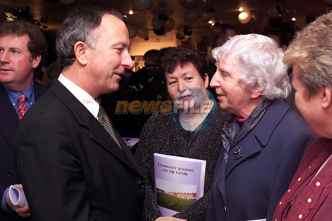Minister Dermot Ahern with Sister Mary Corbally at the launch of the 'Community Building for the Future' in United Park..Picture: Paul Mohan/Newsfile