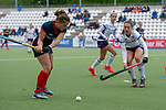 Mannheim, Germany, May 05: During the 1. Bundesliga Damen Feldhockey 2018/19 match between Mannheimer HC (white) and Berliner HC (blue) on May 5, 2019 at Am Neckarkanal in Mannheim, Germany. Final score 4-1 (HT 2-0). (Photo by Dirk Markgraf / www.265-images.com) *** Local caption ***